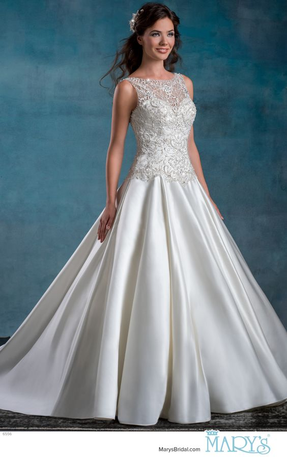 Mary\'s Bridal Style 3Y685 • Re-embroidered lace bridal gown in fit ...