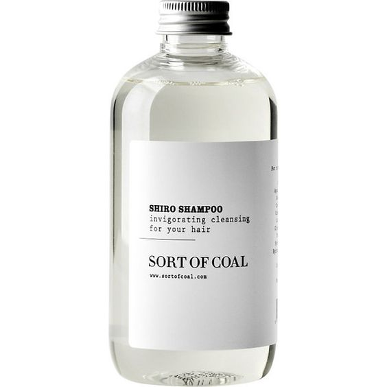 Sort Of Coal Shiro shampoo 500ml (90 BRL) ❤ liked on Polyvore featuring beauty products, haircare, hair shampoo, filler and sort of coal
