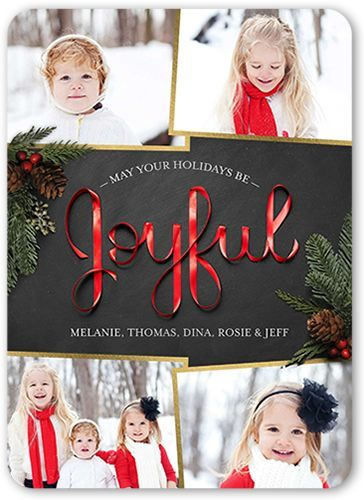 Shine bright and wish well with this holiday card Floating Stars