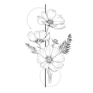 Day 19 Of Floralsyourway Anemone Flowers Floralillustration Art Illustration Sketch Blackan Flower Drawing Flower Prints Art Body Art Tattoos