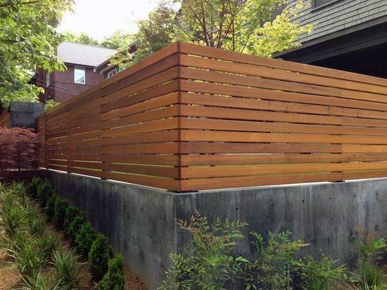 Top 60 Best Modern Fence Ideas Contemporary Outdoor Designs Concrete Retaining Walls Fence Design Backyard Fences