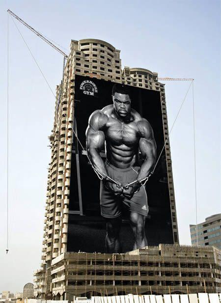 Powerhouse Gym billboard