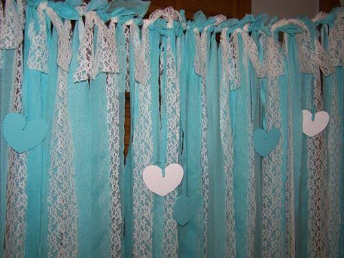 Tiffany Blue Garland | Rustic Wedding Favors