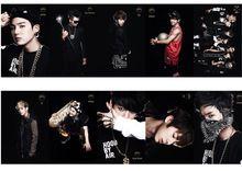 KPOP Noir Style BTS BTS de mode coréenne personnalisé spécial 10PCS Card Stickers KT240(China (Mainland))