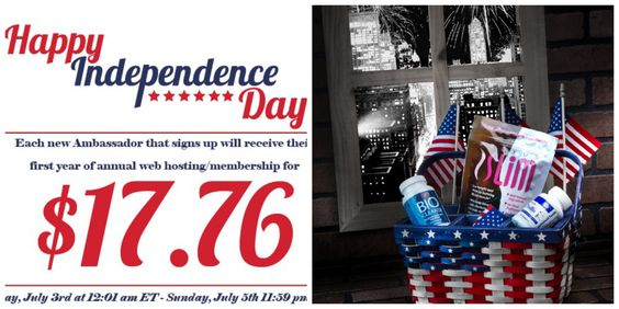 WOW !! Happy 4th of July..... $17.76 SPECIAL...   You can get your ambassador membership at this SPECIAL price of $17.76 for one full year, NOW through Sunday July 5, 2015 at 11:59pm ET. That is a savings of $17.19. Not only purchase your products at discount prices you can make extra cash to add to the family income. Join now at www.Plexusslim.com/pinionpink