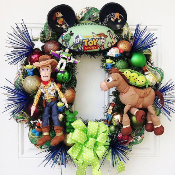 Toy Story Wreath by SparkleForYourCastle on Etsy, $179.00