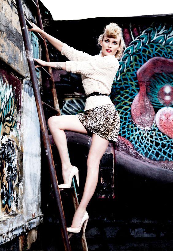 Diane Kruger by Ellen von Unwerth for Glamour March 2011