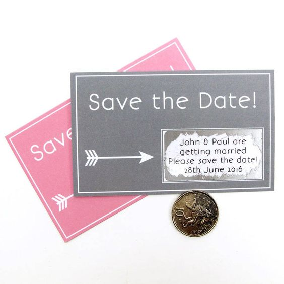Scratch card save the date