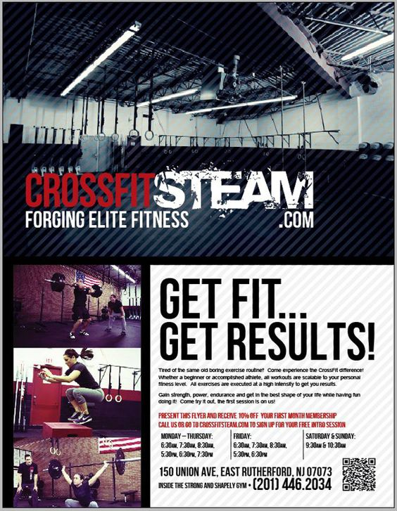 CrossFit Flyers - Google Search CF Flyers Pinterest Crossfit - Gym Brochure Templates