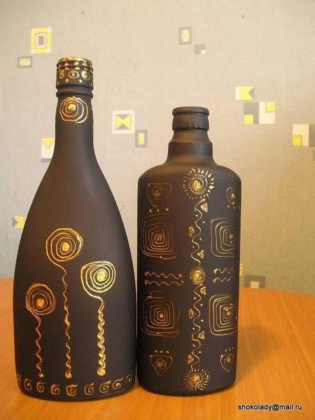 /arte em garrafas:
