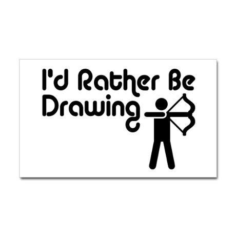 Funny Archery Sticker (Rectangle)