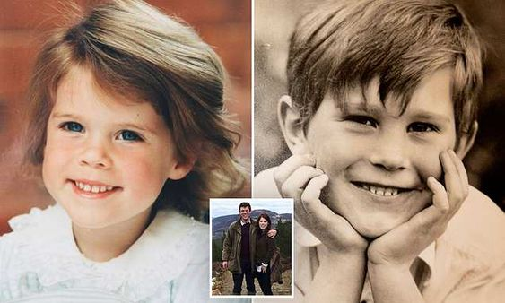 Royal family shares childhood snaps of Eugenie and Jack Brooksbank