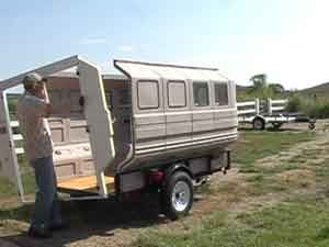 TAIL FEATHER CAMPERS & SHELTERS by Teal International Corporation. Modular camper kits-great link.