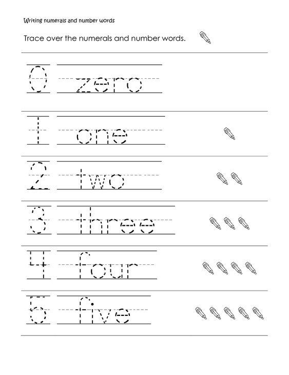 Writing Numbers Worksheets Printable 2 | Printable | Pinterest ...