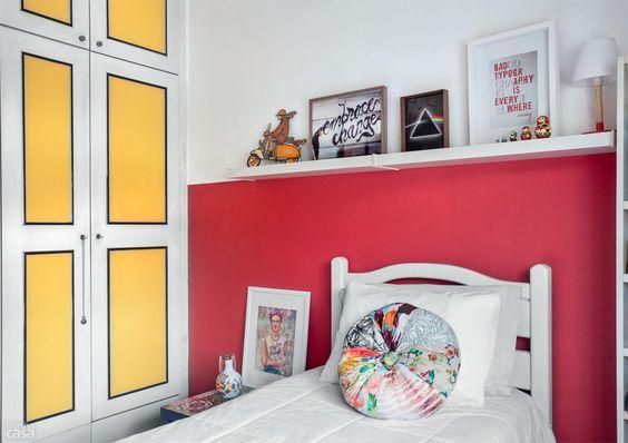 Paredes e móveis coloridos repaginam quarto de designer - Casa - Quarto muito, muito bonito.