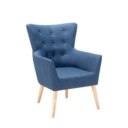 Angen Wingback Chair Hashtag Home Upholstery: Blue in 2020