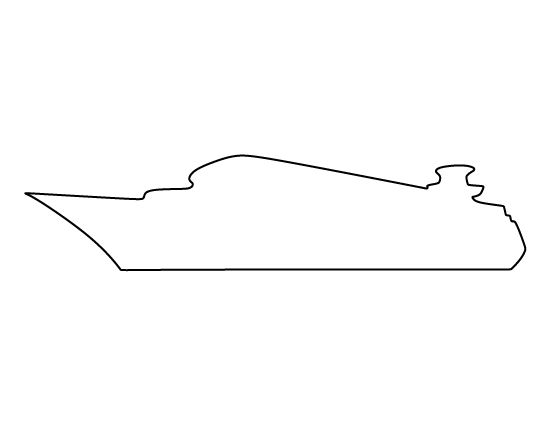 Cruise Ship Pattern. Use The Printable Outline For Crafts Creating Stencils Scrapbooking And ...