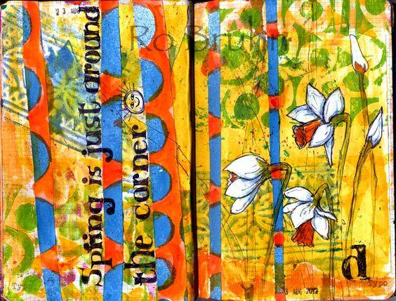 art journal page via Ro Bruhn Art