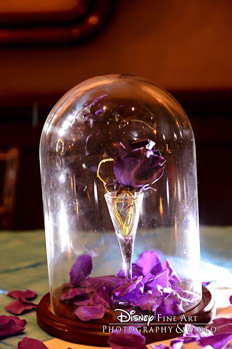 Purple Rose Reception Centerpiece Inspired By Disney 39 S