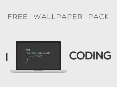 """I LOVE CODING"" Wallpaper Pack"