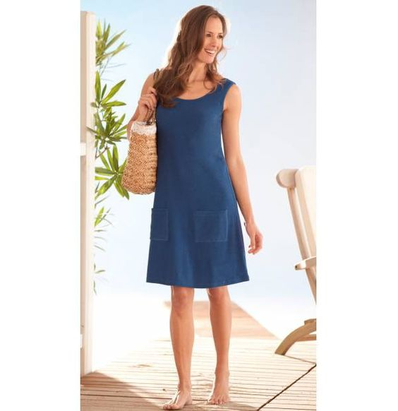 Sommerkleid Blau am Horizont Größe 48-50 Blau