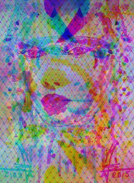 'Das dritte Auge - The 3rd Eye - aus der Serie geimnisvolle Schönheit - Sieries myystirous Beauty' von Marion Waschk bei artflakes.com als Poster oder Kunstdruck $16.63
