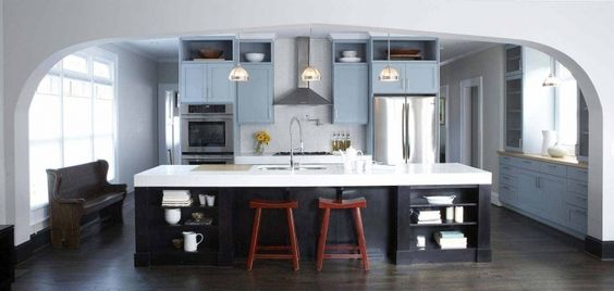 Same color as our cabinets.  I like the white backsplash and light fixtures.