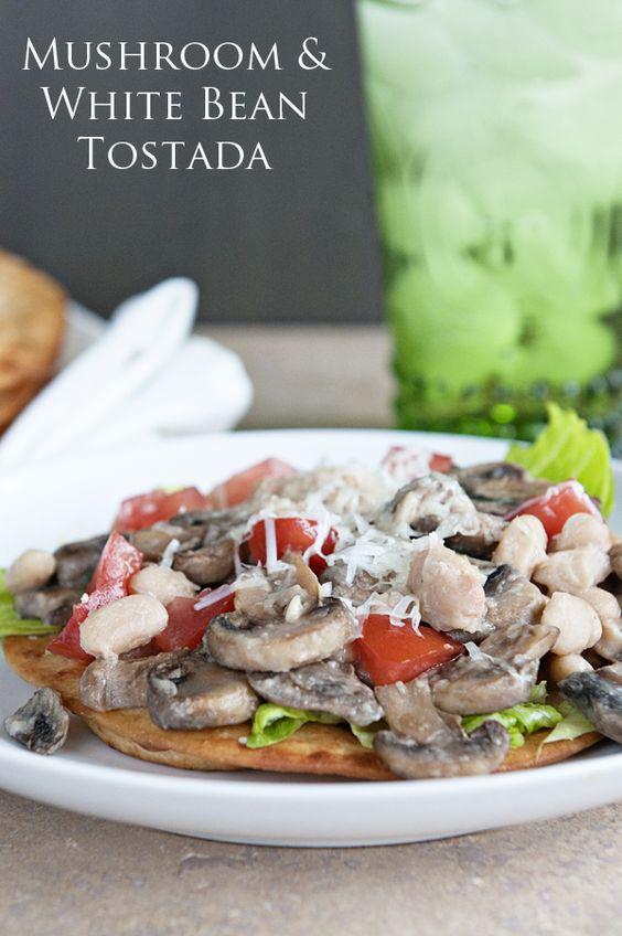 Mushroom Love {Recipe: Mushroom & White Bean Tostada} #recipe