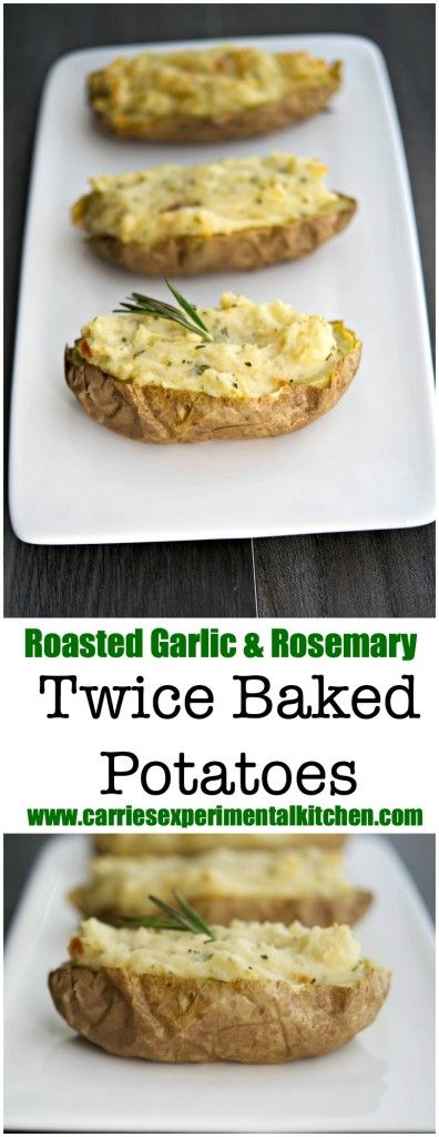 Roasted garlic, Creamy mashed potatoes and Twice baked potatoes on ...