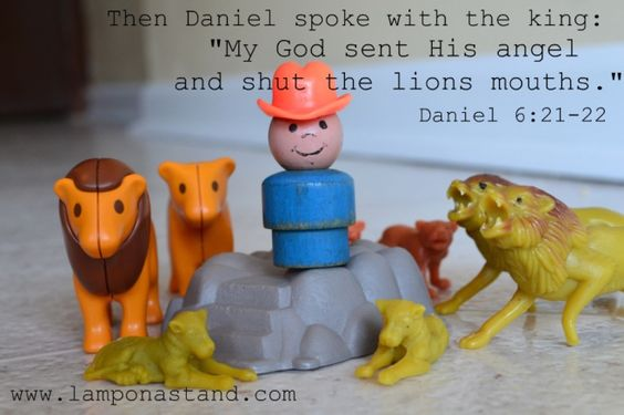 Act out Bible stories with Little People, Lego people, etc