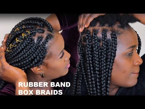 Instagram Rubber Band Box Braids How To Grip Roots Box Braids Ft Toyokalon Youtube Rubber Band Box Braids Braids For Short Hair Hair Styles