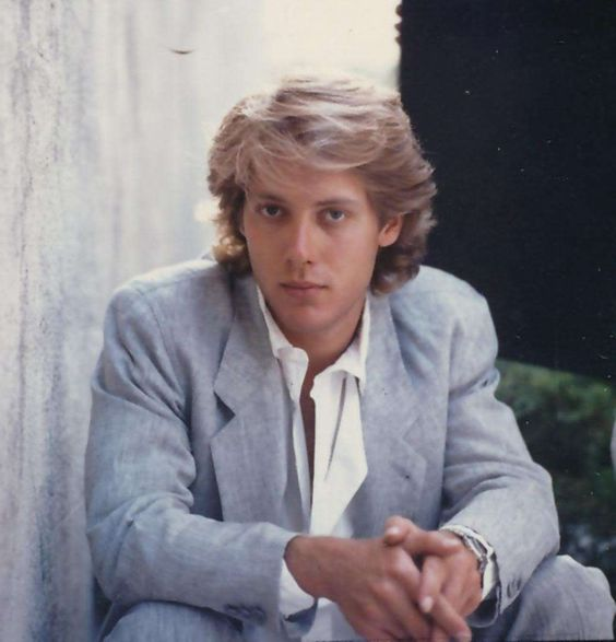 Young James Spader in Gray Suit