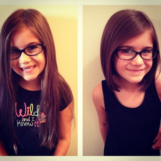 Before and after little girl haircut- what Piper will look like...