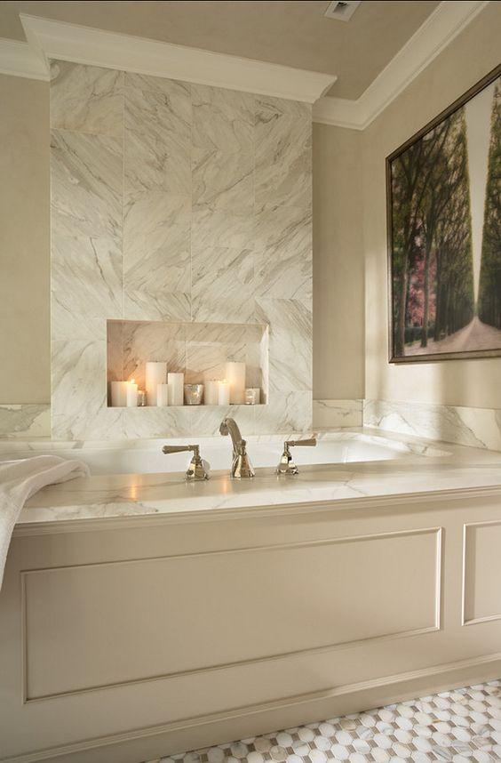 Bathroom Tub Bathroom LOOKS LIKE A FIREPLACEADDS INTEREST