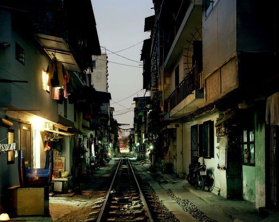 Greg Girard  Buildings Along Railway Tracks, City Centre (Hanoi)  Archival pigment print