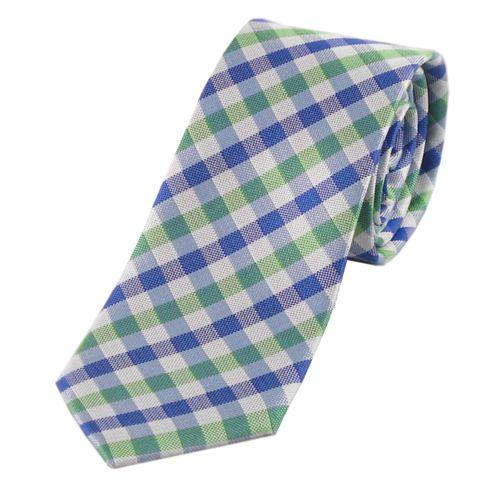 Modische Krawatte aus italienischer Seide im trendigen Karo-Muster