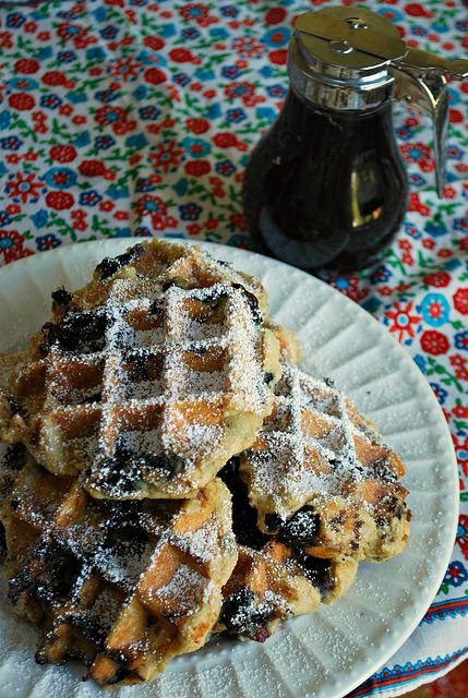 GF Blueberry Belgian Waffles