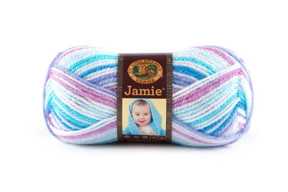 JAMIE- TWINKLE STRIPES - This modern update of our classic Jamie® yarn features a sophisticated sherbet color palette and a versatile DK weight. Snuggly soft, machine washable and dryable this yarn is perfect for every baby project.