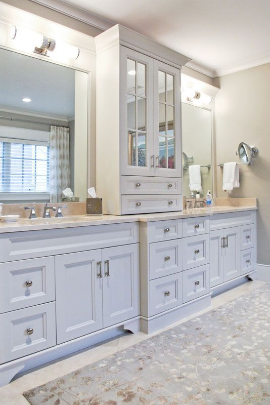Image Result For Bathroom Double Vanity With Center Tower Custom