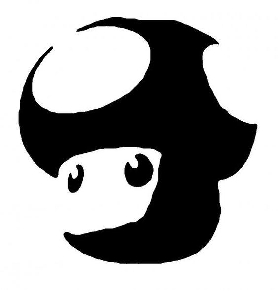 Magic Mushroom Stencil