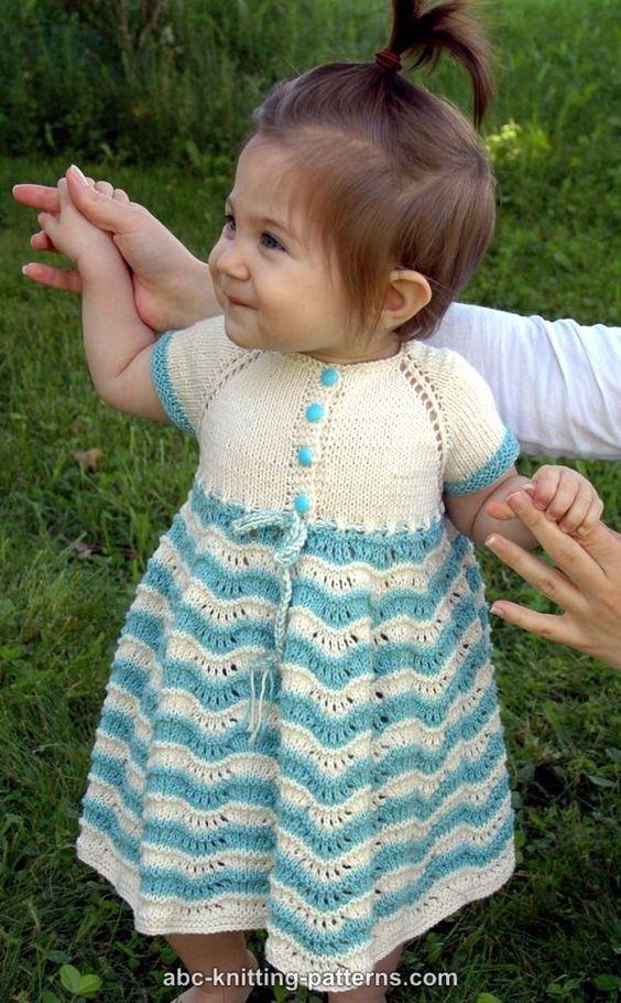ABC Knitting Patterns - Best Sunday Baby Dress Knitting ...