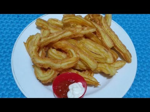Resep Churros Kentang Churros Potato Cemilan Youtube Potatoes Churros Food