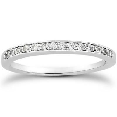 1/6 Carat T.W Diamond Band in 10k White Gold - RGF128327.0