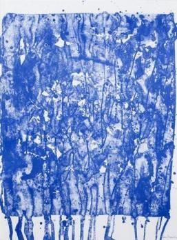 FRANCIS Sam Sans titre 1975 Lithographie sur papier SBD  74,5 x 55,5 cm  Tirage 2/50