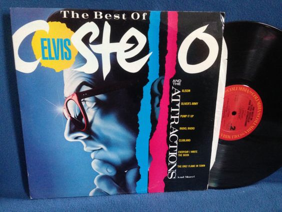 RARE Vintage Elvis Costello  The Best Of Vinyl by sweetleafvinyl