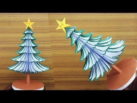 Today I Am Sharing A Paper Christmas Tree Making Tutorial With Template I Will Show In The V Paper Christmas Tree How To Make Christmas Tree How To Make Paper