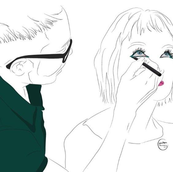 Backstage de #MBFWM #moda #makeup #mac #cosmetics #backstage #mfbwm #maquillaje #maquilladores #fashion #cosmeticillustration #illustration #fashionillustration #sombradeojos #rimmel #trendy #tendencias #loreal #maccosmetics #eyesshadow #igers #semanadelamoda #madrid #fashionweek #cibeles #pasarela #catwalks