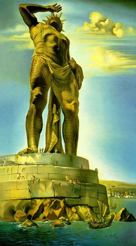 The Colossus of Rhodes / Le Colosse de Rhodes - Salvador Dali - 1954
