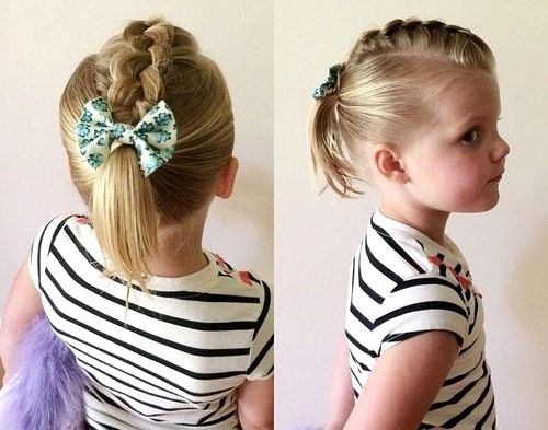 Hairstyles For Toddler Girls Ideas In 2020 Braids For Short Hair