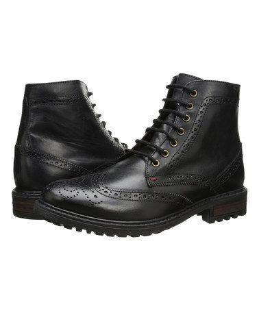 Look what I found on #zulily! Black Sanford Leather Boot by Ben Sherman #zulilyfinds